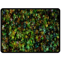 Star Abstract Advent Christmas Double Sided Fleece Blanket (large)  by Sapixe