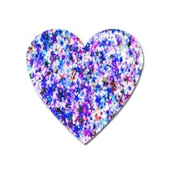 Star Abstract Advent Christmas Heart Magnet by Sapixe