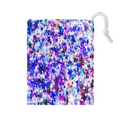 Star Abstract Advent Christmas Drawstring Pouches (large)  by Sapixe