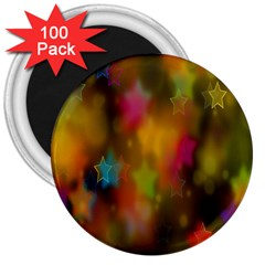 Star Background Texture Pattern 3  Magnets (100 Pack) by Sapixe