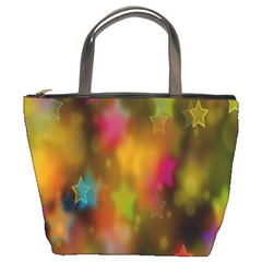 Star Background Texture Pattern Bucket Bags by Sapixe