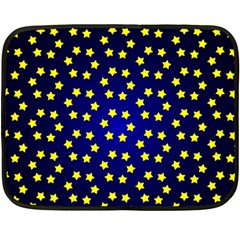 Star Christmas Red Yellow Double Sided Fleece Blanket (mini)  by Sapixe