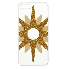 Star Golden Glittering Yellow Rays Apple Iphone 5 Seamless Case (white) by Sapixe