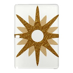 Star Golden Glittering Yellow Rays Samsung Galaxy Tab Pro 12 2 Hardshell Case by Sapixe