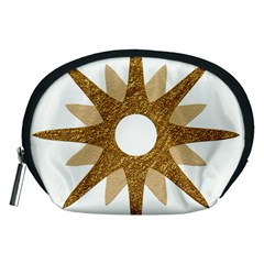 Star Golden Glittering Yellow Rays Accessory Pouches (medium)  by Sapixe