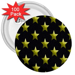 Stars Backgrounds Patterns Shapes 3  Buttons (100 Pack)  by Sapixe