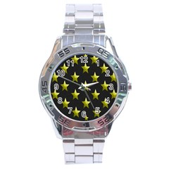 Stars Backgrounds Patterns Shapes Stainless Steel Analogue Watch