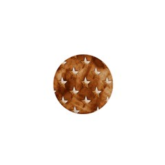 Stars Brown Background Shiny 1  Mini Magnets by Sapixe