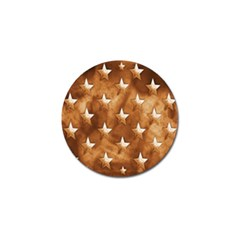 Stars Brown Background Shiny Golf Ball Marker (4 Pack) by Sapixe