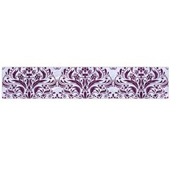 Damask1 White Marble & Purple Leather (r) Large Flano Scarf  by trendistuff