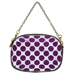 Circles2 White Marble & Purple Leather (r) Chain Purses (one Side)  by trendistuff