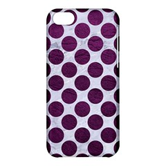 Circles2 White Marble & Purple Leather (r) Apple Iphone 5c Hardshell Case by trendistuff