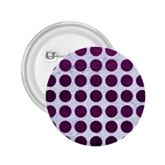 Circles1 White Marble & Purple Leather (r) 2 25  Buttons by trendistuff
