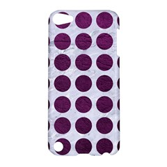 Circles1 White Marble & Purple Leather (r) Apple Ipod Touch 5 Hardshell Case by trendistuff