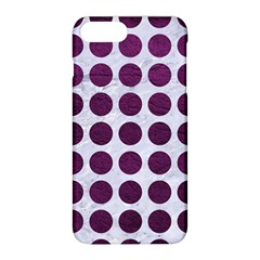 Circles1 White Marble & Purple Leather (r) Apple Iphone 8 Plus Hardshell Case