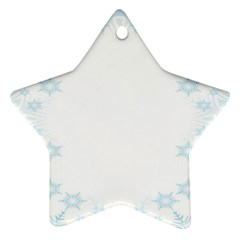 The Background Snow Snowflakes Star Ornament (two Sides) by Sapixe