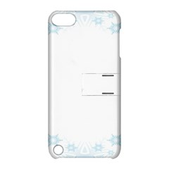 The Background Snow Snowflakes Apple Ipod Touch 5 Hardshell Case With Stand by Sapixe