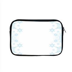 The Background Snow Snowflakes Apple Macbook Pro 15  Zipper Case by Sapixe