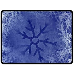 Winter Hardest Frost Cold Fleece Blanket (large)  by Sapixe