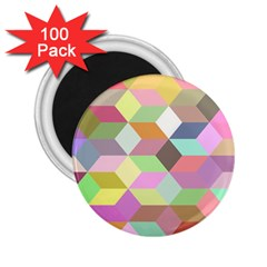 Mosaic Background Cube Pattern 2 25  Magnets (100 Pack)  by Sapixe