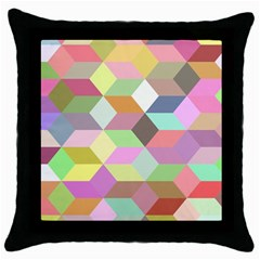 Mosaic Background Cube Pattern Throw Pillow Case (black) by Sapixe