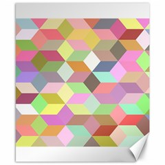 Mosaic Background Cube Pattern Canvas 8  X 10  by Sapixe