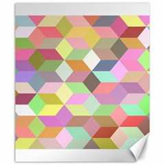Mosaic Background Cube Pattern Canvas 20  X 24   by Sapixe