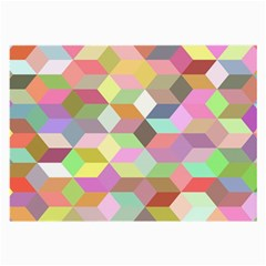 Mosaic Background Cube Pattern Large Glasses Cloth by Sapixe