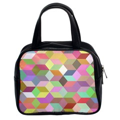 Mosaic Background Cube Pattern Classic Handbags (2 Sides) by Sapixe