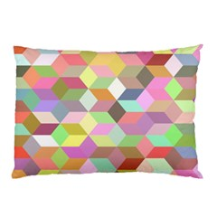 Mosaic Background Cube Pattern Pillow Case by Sapixe