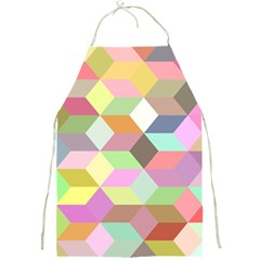 Mosaic Background Cube Pattern Full Print Aprons by Sapixe