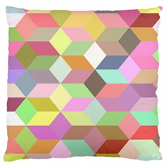 Mosaic Background Cube Pattern Large Cushion Case (two Sides) by Sapixe