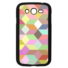Mosaic Background Cube Pattern Samsung Galaxy Grand Duos I9082 Case (black) by Sapixe