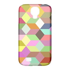 Mosaic Background Cube Pattern Samsung Galaxy S4 Classic Hardshell Case (pc+silicone) by Sapixe