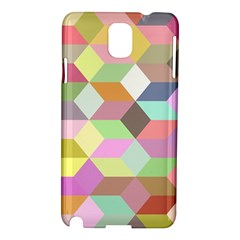 Mosaic Background Cube Pattern Samsung Galaxy Note 3 N9005 Hardshell Case by Sapixe