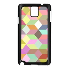 Mosaic Background Cube Pattern Samsung Galaxy Note 3 N9005 Case (black) by Sapixe