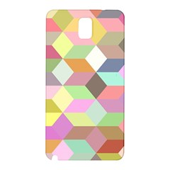 Mosaic Background Cube Pattern Samsung Galaxy Note 3 N9005 Hardshell Back Case by Sapixe