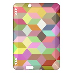 Mosaic Background Cube Pattern Kindle Fire Hdx Hardshell Case by Sapixe