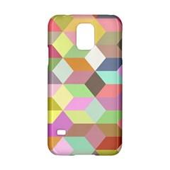 Mosaic Background Cube Pattern Samsung Galaxy S5 Hardshell Case  by Sapixe