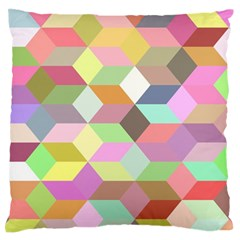 Mosaic Background Cube Pattern Large Flano Cushion Case (one Side) by Sapixe