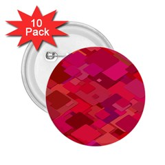 Red Background Pattern Square 2 25  Buttons (10 Pack)  by Sapixe