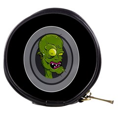 Zombie Pictured Illustration Mini Makeup Bags by Sapixe