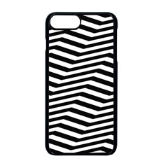 Zig Zag Zigzag Chevron Pattern Apple Iphone 8 Plus Seamless Case (black)