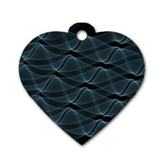 Desktop Pattern Vector Design Dog Tag Heart (one Side)