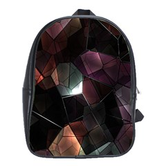 Crystals Background Design Luxury School Bag (xl) by Sapixe