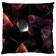 Crystals Background Design Luxury Large Flano Cushion Case (two Sides) by Sapixe