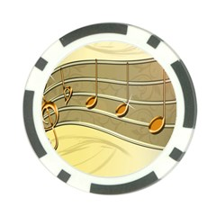 Music Staves Clef Background Image Poker Chip Card Guard by Sapixe