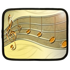 Music Staves Clef Background Image Netbook Case (xl)  by Sapixe
