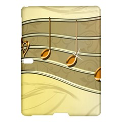 Music Staves Clef Background Image Samsung Galaxy Tab S (10 5 ) Hardshell Case