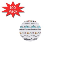 Decoration Element Style Pattern 1  Mini Buttons (100 Pack)  by Sapixe
